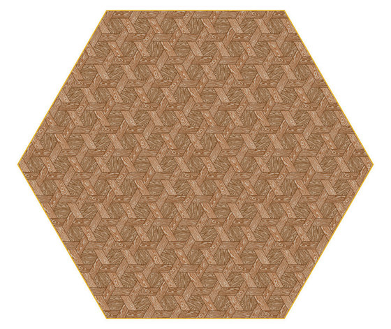 Hexagon | brown rug by moooi carpets | Rugs