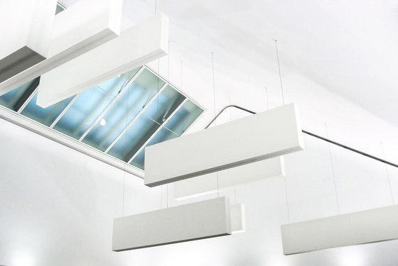 Light & Acoustic Box di Koch Membranen | Sistemi assorbimento acustico sospensione