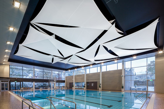 Light & Acoustic Sail by Koch Membranen | Sound absorbing suspended panels