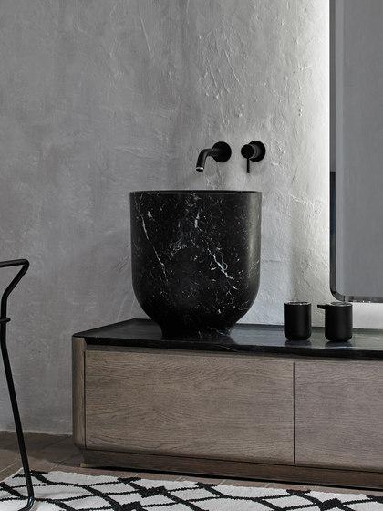 Origin Top Mounted Black Marquina Marble H45 Washbasin de Inbani | Lavabos