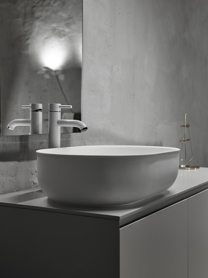 Prime Top Mounted Matt Solidsurface Washbasin by Inbani | Wash basins