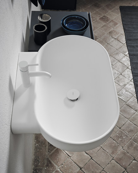 Prime Wall Mounted Matt Solidsurface Washbasin by Inbani | Wash basins
