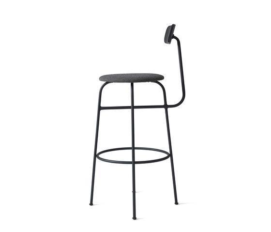 Afteroom Bar Chair | Black/Black Melange by MENU | Bar stools