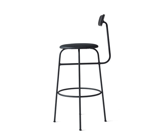 Afteroom Bar Chair | Black/Black by MENU | Bar stools