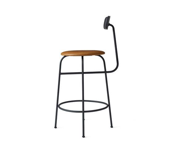 Afteroom Counter Chair | Black/Cognac by MENU | Bar stools