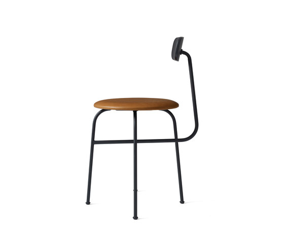 Afteroom Dining Chair 4 | Black/Cognac by MENU | Chairs