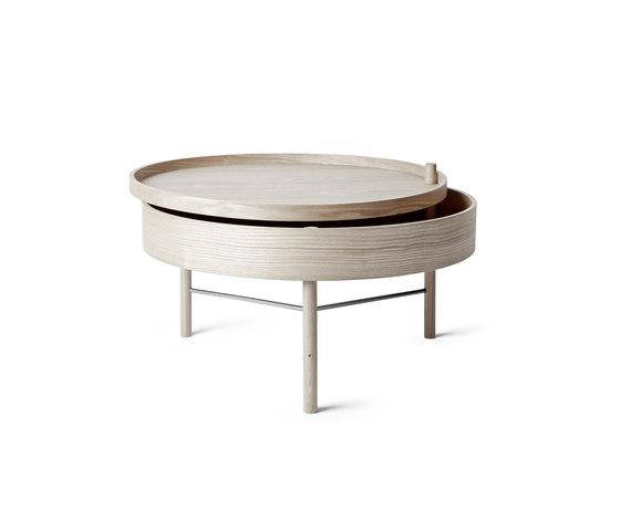 Turning Table | White Oak/Black Chrome by MENU | Coffee tables