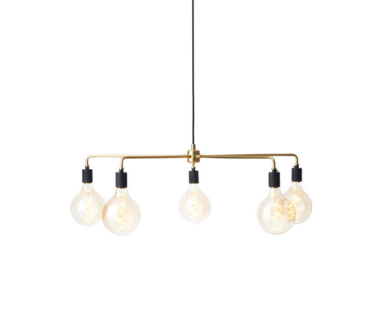 Tribeca Series   Chambers Chandelier 76 Brass by MENU   Suspended lights