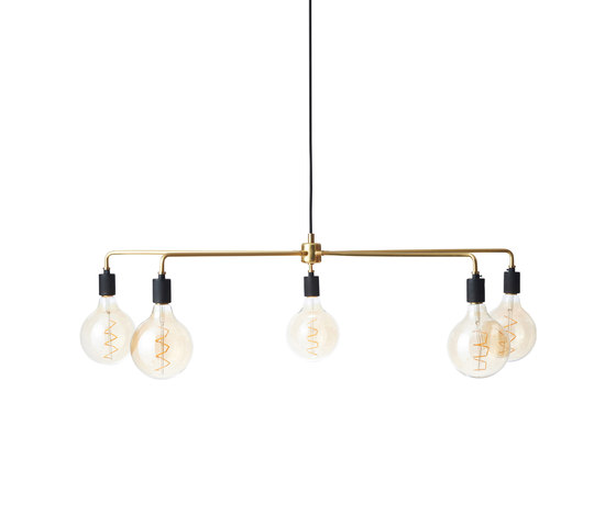 Tribeca Series | Chambers Chandelier 96 Brass by MENU | Suspended lights