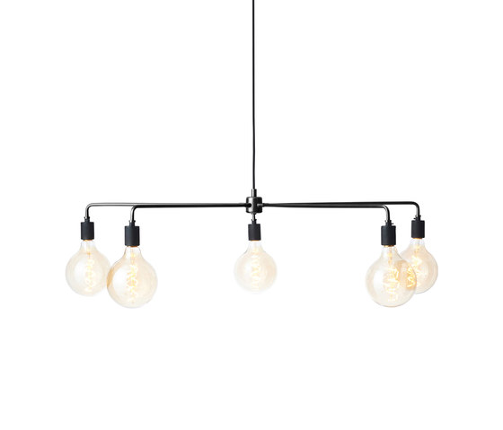 Tribeca Series   Chambers Chandelier 96 Black by MENU   Suspended lights