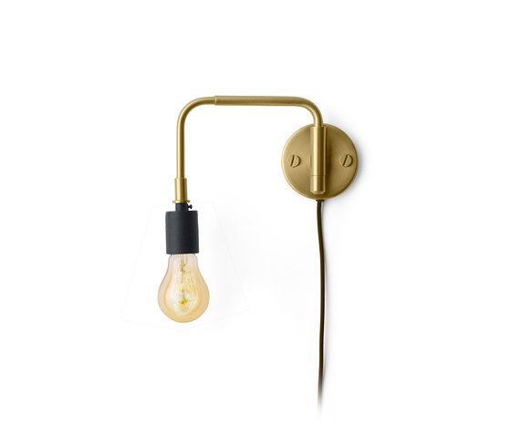 Tribeca Series | Staple Wall Lamp Brass by MENU | Wall lights
