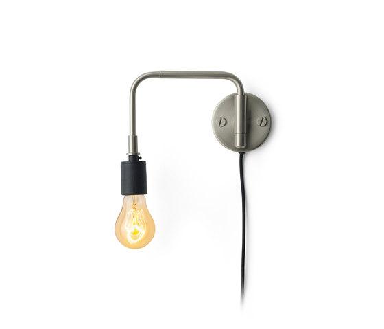 Tribeca Series | Staple Wall Lamp Brushed Steel de MENU | Lámparas de pared