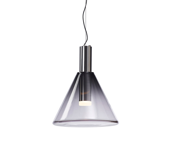 PHENOMENA pendant smoke grey silver by Bomma | Suspended lights