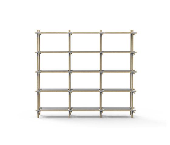 Stick System | 3x5 Grey/Light Ash de MENU | Estantería
