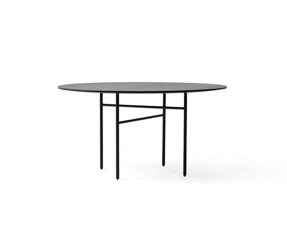 Snaregade Dining Table | Round Ø138 cm Black de MENU | Tables de repas