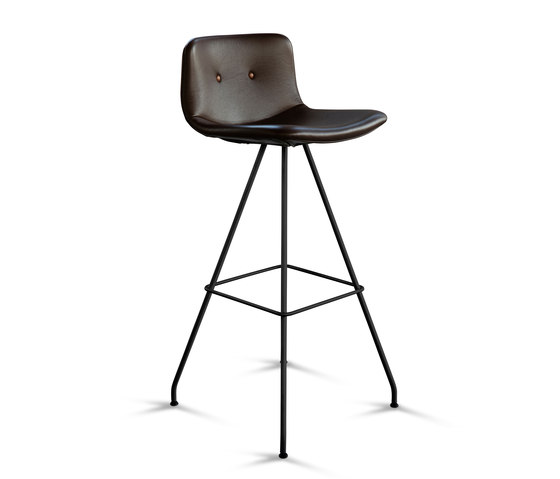 Primum Bar Stool High black base de Bent Hansen | Tabourets de bar