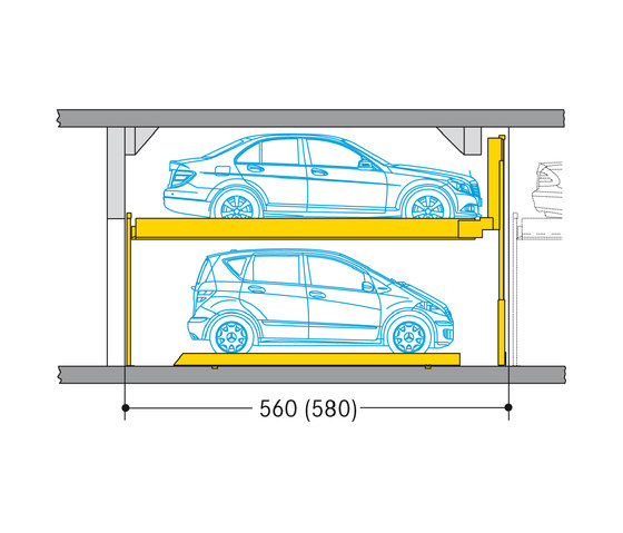 Combilift 552 by Wöhr | Semi automatic parking systems