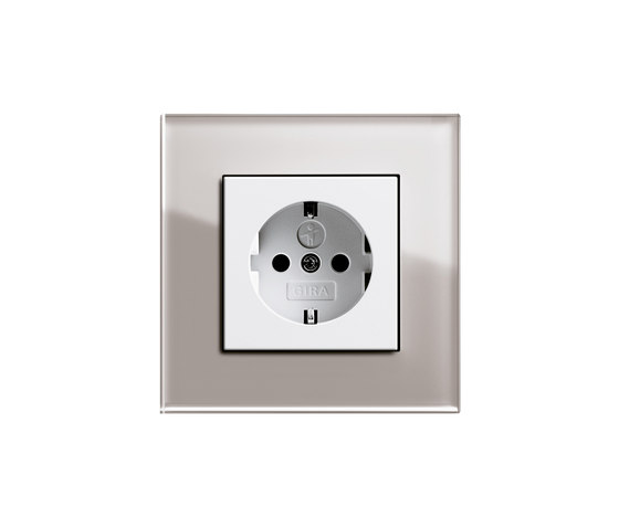 Esprit Glass   Socket outlet by Gira   Schuko sockets