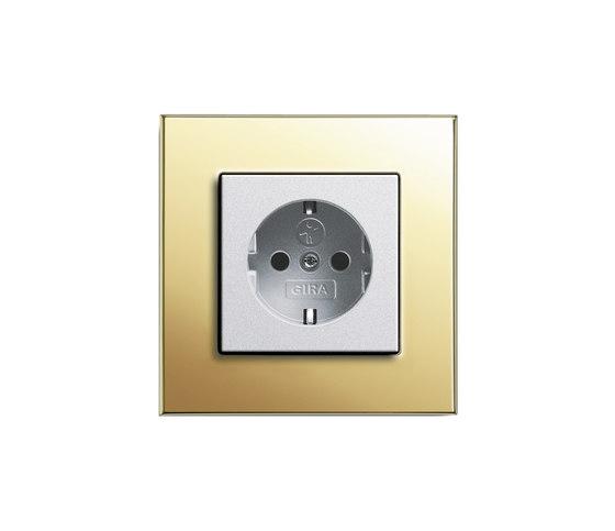 Esprit Brass | Socket outlet by Gira | Schuko sockets