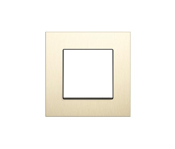 Esprit aluminium bright gold | Switch range de Gira | Interruptores pulsadores