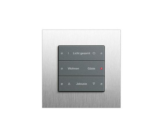 Esprit stainless steel   Radio wall transmitter by Gira   Lighting controls