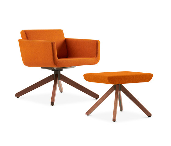 Palomino Guest Chair + Ottoman by Leland International | Armchairs