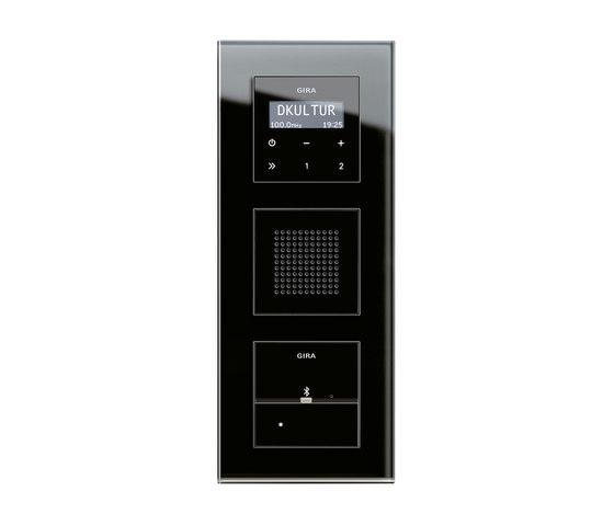 Esprit Glass | docking station by Gira | Radio systems