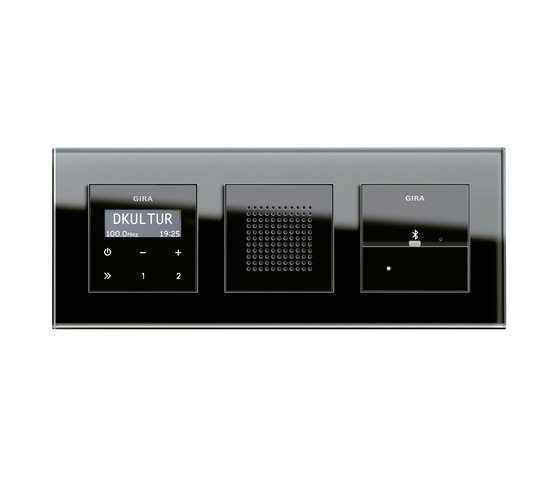 Esprit Glass | docking station by Gira | Radio systems