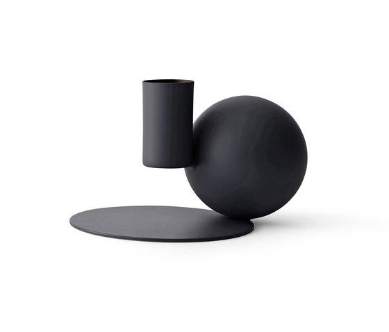 Optical Candle Holder | Black by MENU | Candlesticks / Candleholder