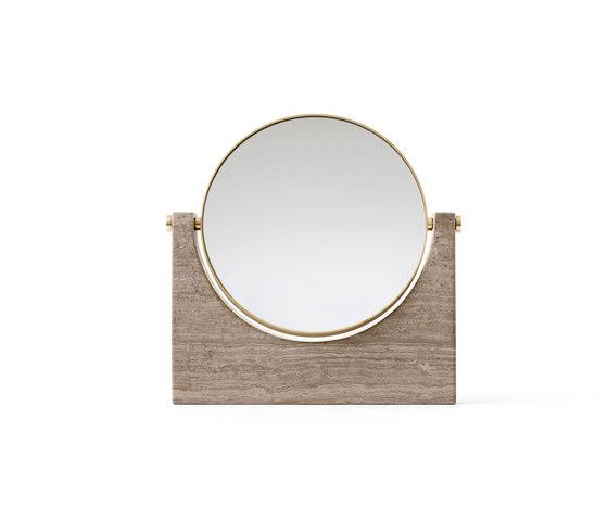 Pepe Marble Mirror | Brass/Honed Brown by MENU | Mirrors