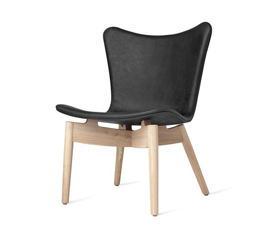 Shell Lounge Chair - Dunes Anthrazit - Mat Lacquered Oak by Mater   Armchairs