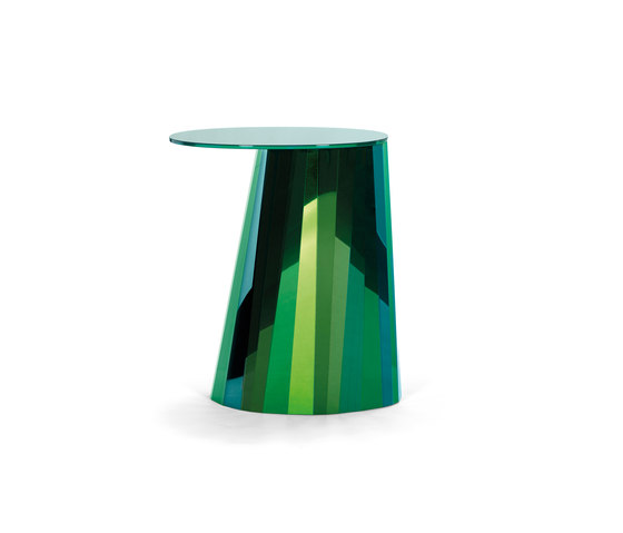 Pli Side Table High Green Satin di ClassiCon | Tavolini alti