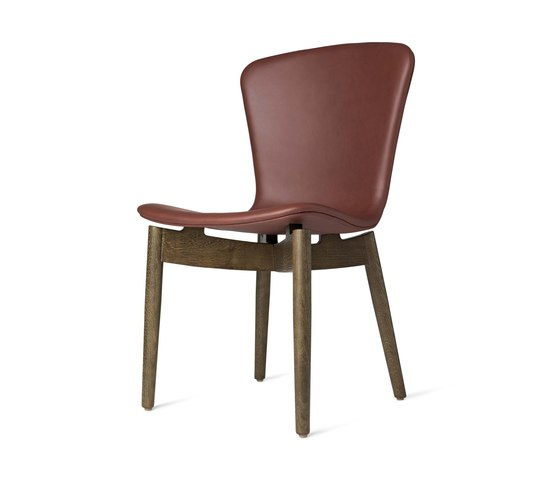 Shell Dining Chair - Ultra Cognac - Sirka Grey Oak by Mater | Chairs