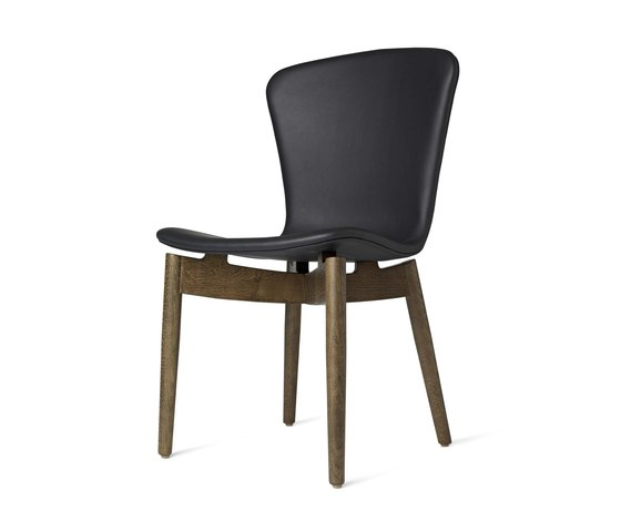 Shell Dining Chair - Ultra Black - Sirka Grey Oak by Mater | Chairs