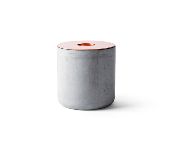 CHUNK of Concrete | L w. Copper by MENU | Candlesticks / Candleholder