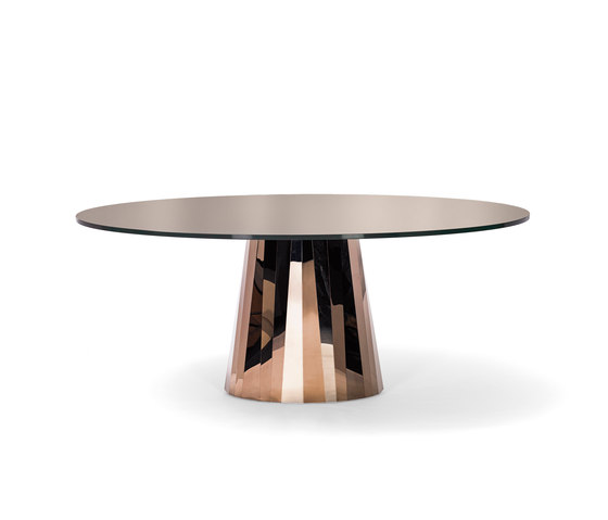 Pli Table Pyrit Bronze von ClassiCon | Esstische