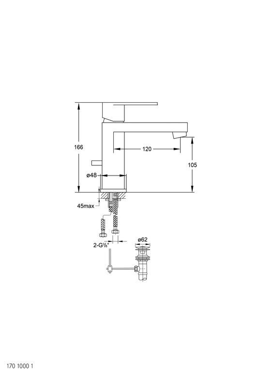 170 1000 1 Waschtisch-Einhebelmischbatterie von Steinberg | Waschtischarmaturen