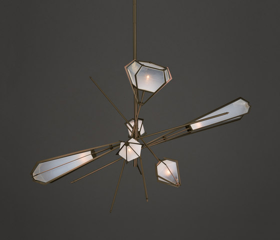 HARLOW Large Chandelier by Gabriel Scott | Suspended lights