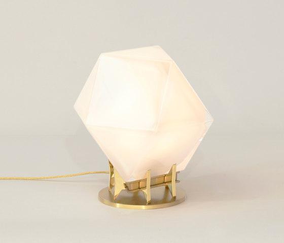 WELLES DOUBLE-BLOWN GLASS Desk Lamp by Gabriel Scott | Table lights