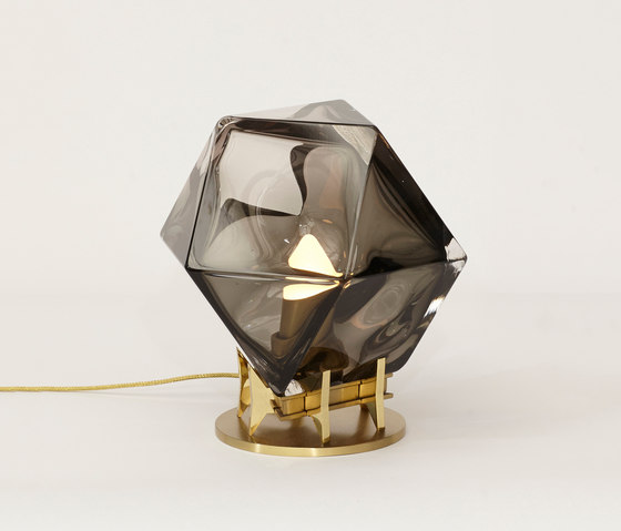 WELLES DOUBLE-BLOWN GLASS Desk Lamp by Gabriel Scott | Table lights
