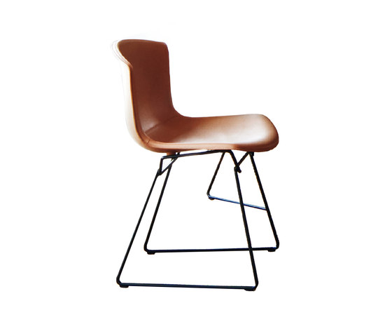 Bertoia Side Chair in Cowhide by Knoll International | Chairs