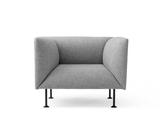 Godot | 1 Seater Grey Melange di MENU | Poltrone lounge
