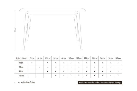 6Grad | bar table di Jan Cray | Tavoli alti