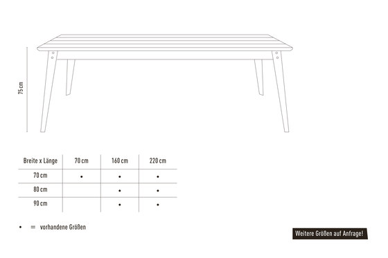 6Grad Outdoor   table by Jan Cray   Dining tables