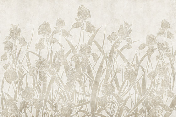 Bloom Iris by GLAMORA | Bespoke wall coverings