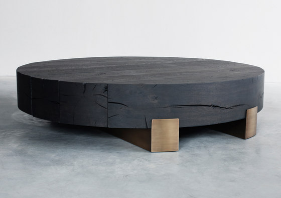 Beam limited round coffee table de Van Rossum | Tables basses