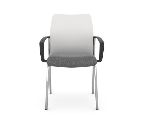 F2 Four-Legged Visitor Chair de viasit | Sillas de visita