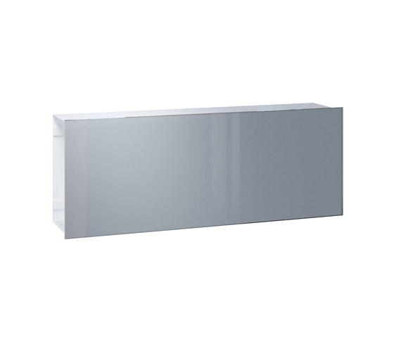 Newspaper slot | Flat Wide | glass by Serafini | Mailboxes