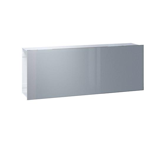 Newspaper slot | Flat Wide | glass de Serafini | Boîtes aux lettres