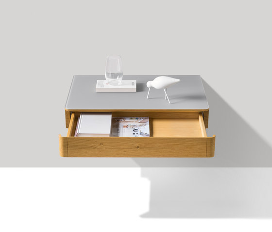 float bedside cabinet by TEAM 7 | Night stands
